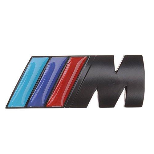 Badge Car Decal (Black Badge Tri Color For All Bmw Rear Emblem Car Decal Logo Sticker)