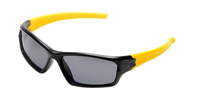KINDOYO Unisexo Polarizadas Gafas de Sol Deportivas para Niños Niñas Flexible Rubber Clásico Gafas , Negro