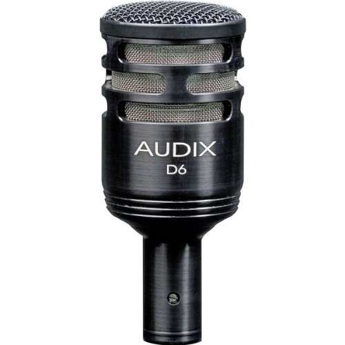 Audix D6 | Cardioid Sub-Impulse Dynamic Instrument Microphone for Kick Drum VLM Diaphragm for Natural Accurate Sound Reproduction