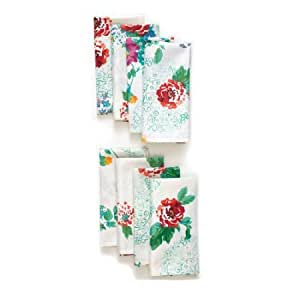 the pioneer woman country garden napkin set 8 pack home kitchen