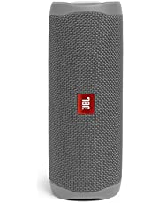 مكبر صوت لاسلكي محمول فليب 5 بتصميم مضاد للماء مزود بخاصية البلوتوث من جي بي ال - لون رمادي - طراز JBLFLIP5GRY