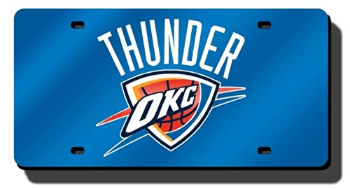 Rico Industries RIC-LZC68001 Oklahoma City Thunder NBA Laser Cut License Plate - Outlet Okc Shops