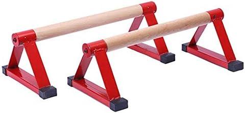 ポータブルパラレットバー、逆立ちフィットネス機器、木製プッシュアップバー、金属プッシュアップダブルロッド、ヨガ用、体操トレーニング、逆立ち