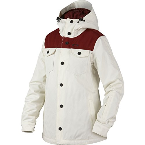 Oakley Snow Jacket (Oakley Women's Spotlight BZI Jacket, X-Small, Arctic White)