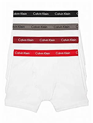 Calvin Klein Men's Underwear Cotton Stretch 4 Pack Boxer Briefs White