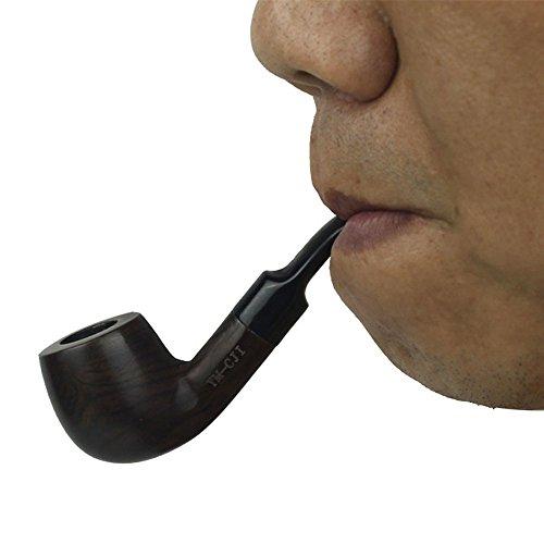 - KYSUN Handmade Tobacco Pipe Ebony Wooden Smoking Pipe
