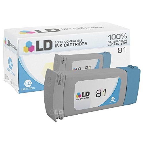 LD Remanufactured Ink Cartridge Replacement for HP 81 C4934A (Light Cyan)
