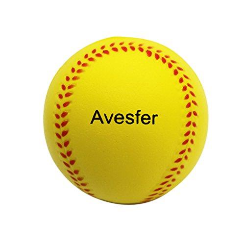 Foam Training Baseballs (Avesfer Practice Baseballs Foam Softballs Training Sporting Batting Soft Ball Indoor Outdoor Backyard for Players Kids Teenager Children Yellow (12 Pack 9 INCH))
