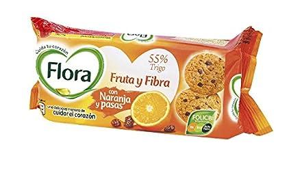 Flora Galletas Frutafibra Naranja - 125 g