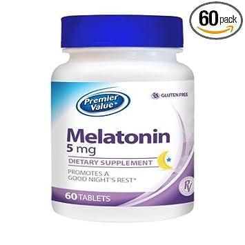 Amazon.com: Premier valor Melatonina vitamina Suplemento – 5 ...