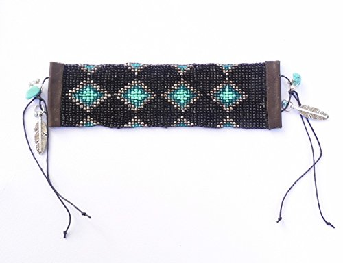 Beaded Diamond Pattern Bracelet (J Renee Wrap)