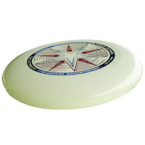 Discraft 175 gram Ultra-Star Sportdisc-Nite-Glo, colors may vary by Discraft