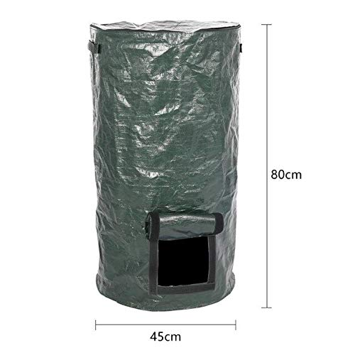Yard Waste Bags Organic Waste Compost Bag Garden Plant Grow Bag Kitchen Fruit Vegetable Flower Pot Potato Plant Eco-Friendly Grow Bag