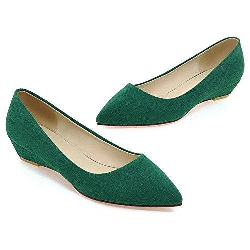 TAOFFEN Womens Comfy Womens Womens Flat Comfy TAOFFEN Shoes Green TAOFFEN Comfy Flat Shoes Green 8n4wq5xAy