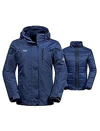 Wantdo Women's Winter Ski Jacket Water Resistant 3-in-1 Jacket Puff Liner