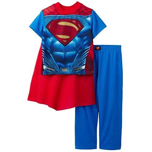discount Superman Boys 2-Piece Pajama Set with Cape, Kids Sizes 4-10 hot sale