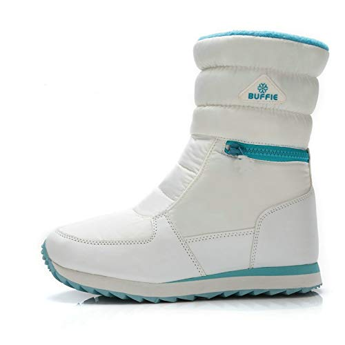 wasab Snow Boots for Women Girls White Winter Snow Boots Ankle Non-Slip Waterproof Winter