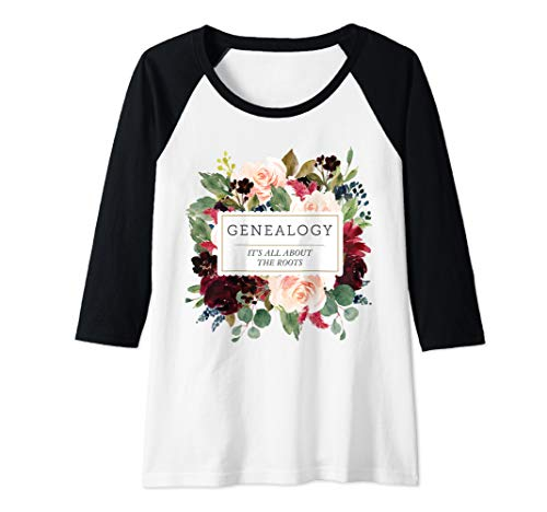 Womens Genealogy Gift Genealogist Gift Ladies Family Research  Raglan Baseball Tee