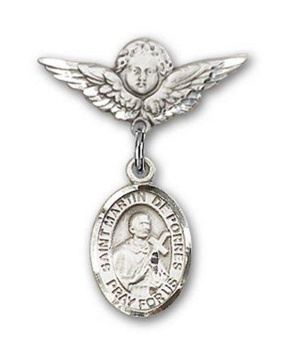 Icecarats Créatrice De Bijoux En Argent Sterling St. Martín De Porres Charme Ange Pin Badge 7/8 X 3/4