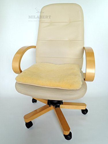 Sheepskin Seat Cushion - Genuine Medical Sheepskin Seat Cushion for Office Chair / Wheelchair - Eco Product of European Union - Premium Quality