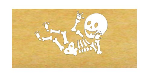 American Sign Language Baby Skeleton Iron-on Applique