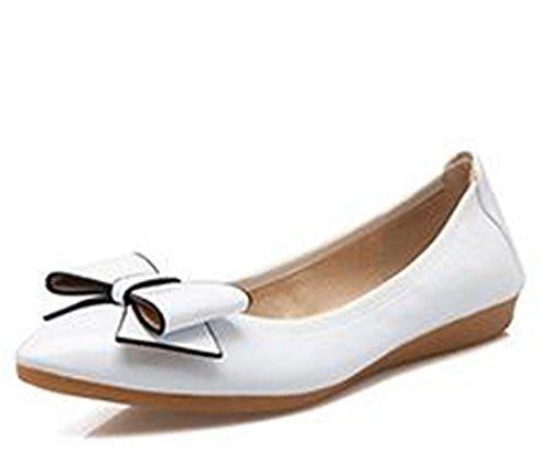 Cloudless Women's Slip On Ballet Flats Ballerina Comfort Slippers Trendy Dress Shoes-(White 40/9 B(M) US Women) -