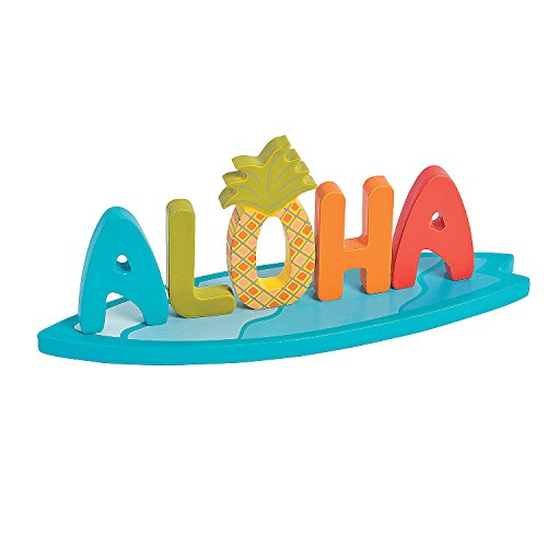Fun Express Aloha Table Topper - Home Decor - Figurines - Molded - 1 Piece