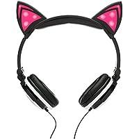 SoundBeast Cat Ear Headphones with Glowing Lights (Pink)