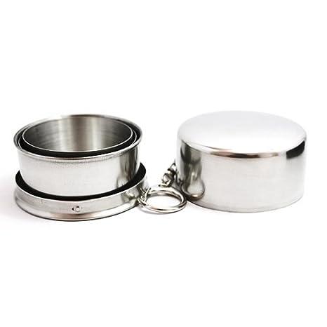 Mini acero inoxidable portátil plegable vaso plegable ...
