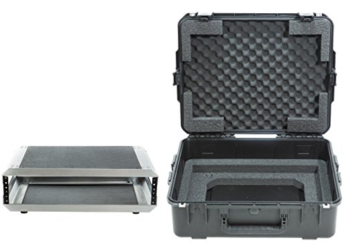 SKB 3i-2217-82U -  iSeries Fly Rack Case with Removable 2U Rack Cage, TSA Locking Latches by SKB
