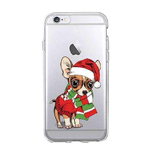 No Buy No Bye for iPhone 7 7Plus 6S 5S 8 8Plus X XS Max Puppy Pug Christmas Hat Santa Cap Fashion Soft TPU Printed Phone Case Cover,2,for Samsung S8 Plus -
