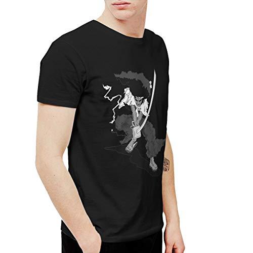 CLANN Afro Samurai Anime Short Sleeve T-Shirt Black XXL]()