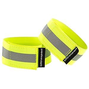 Ultrasport Paquete de 2 Bandas Reflectantes con Velcro: Seguridad en Cualquier Actividad al Aire Libre, Unisex, Amarillo… 22
