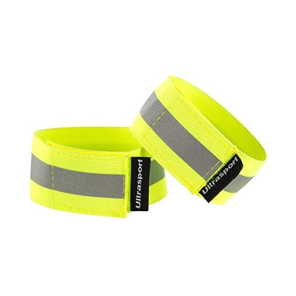 Ultrasport Paquete de 2 Bandas Reflectantes con Velcro: Seguridad en Cualquier Actividad al Aire Libre, Unisex, Amarillo neón, OS 1