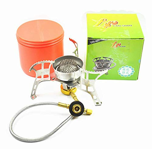 Camping Gas Stove, Big Power Windproof Camping Stove Portable Foldable Split Furnace Stove Cooking Burner with Carry Case Box