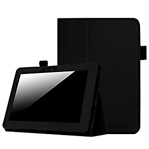 "Fintie Folio Case for Kindle Fire HD 7"" (2012 Old Model) - Slim Fit Leather Cover with Auto Sleep/Wake Feature (will only fit Amazon Kindle Fire HD 7, Previous Generation - 2nd), Black"