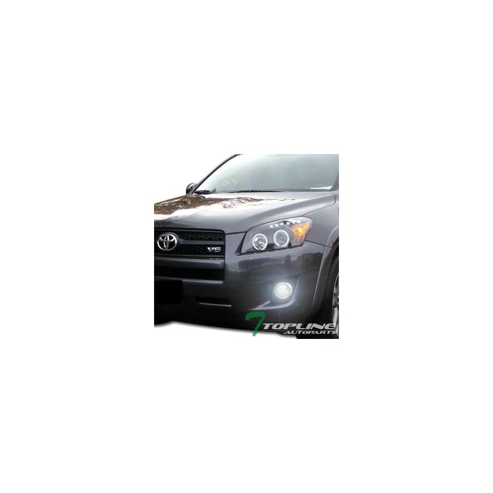 6000K Hid Xenon W/Jdm Chrome Front Bumper Fog Lights+Switch 09 10 11 Toyota Rav4