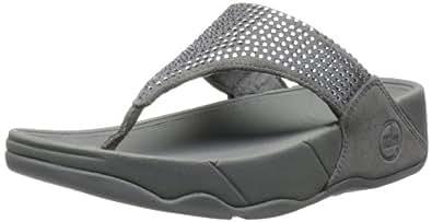 FitFlop Women's Rokkit Flip Flop,Silver Nova,5 M US