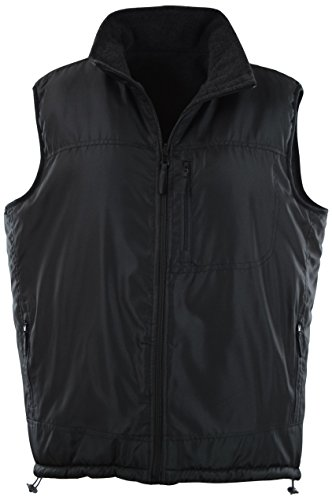 Vest Pattern Free Fleece (ChoiceApparel® Mens Basic Padded Windbreaker Puffer Vests (Many Styles To Choose From) (M, 408-Black))