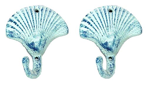 Iron Scallop Shell Hook - Set of 2 (Small Shell Scallop)