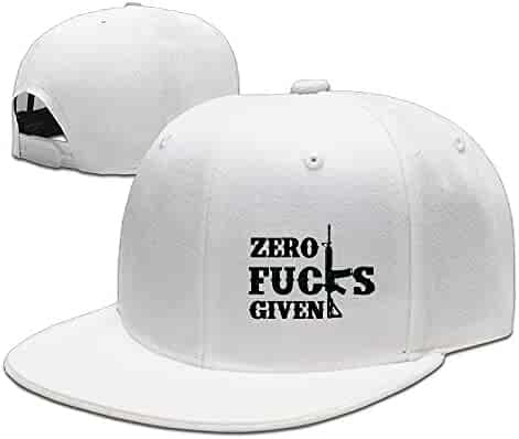 be6b3e3bf53 Michgton Zero Fucks Given Unisex Snapback Adjustable Flat Bill Baseball Cap