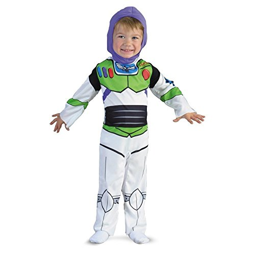 [Disney Disguise Buzz Lightyear Classic Costume Toddler Kids Bodysuit Role Play Super Hero Halloween Costume (12-24] (Buzz Lightyear Costumes Women)