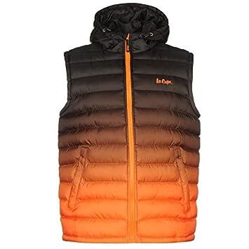 Lee Cooper gradiente chaleco para hombre chaleco negro/naranja chaqueta para hombre ropa, negro/naranja, large: Amazon.es: Deportes y aire libre