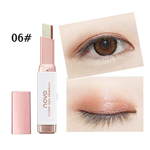 (Oksale Two-Color Gradient Eye Shadow Stick Shimmer Palette Eye Cream Pen, Build Three-Dimensional Sense Eye Makeup, Silk Worm Eyes Makeup)