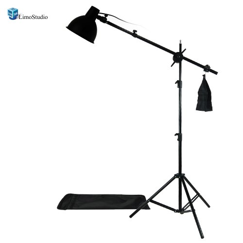LimoStudio Photography Photo Studio Lighting Kit Reflector Light Kit with Boom Arm Hair Light Kit, AGG1303 by LimoStudio