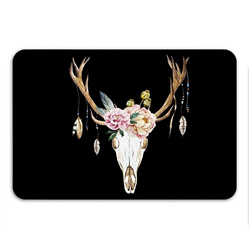 Boho Chic Deer Skull Anti Slip Bath Mat Western Theme Decor Skull Art Urban Outfitters Home (Western Bath Mat)