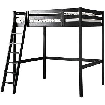 Amazon Com Ikea Full Double Size Loft Bed Frame Black 3426 20226