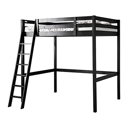 Amazon Com Ikea Full Double Size Loft Bed Frame Black 3426 20226