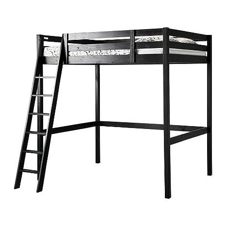 Amazon.com: IKEA Full/Double Size Loft Bed Frame, Black 3426.20226 ...