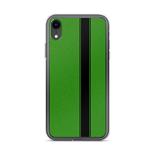 iPhone XR Pure Clear Case Cases Cover Racing Stripe - Black on Green Flake
